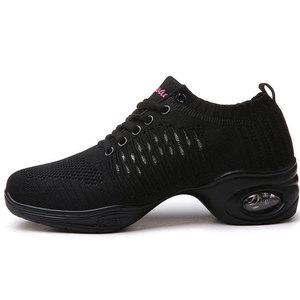 Image 4 - Womens Dance Shoes  Jazz Dancing Shoes For Woman Summer Mesh Modern Dance Shoes Ladies Female Sport Feature Dance Sneaker 34 41