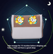 16 HEADS relax massage Sleep aid pillow with heat function neck and twist massage pillow(China)