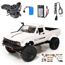 WPL C24 RC Car 1:16 2.4Ghz 4WD Crawler RTR Radio Control Car Full Proportional Control RC Vehicle with Two/Three Battery