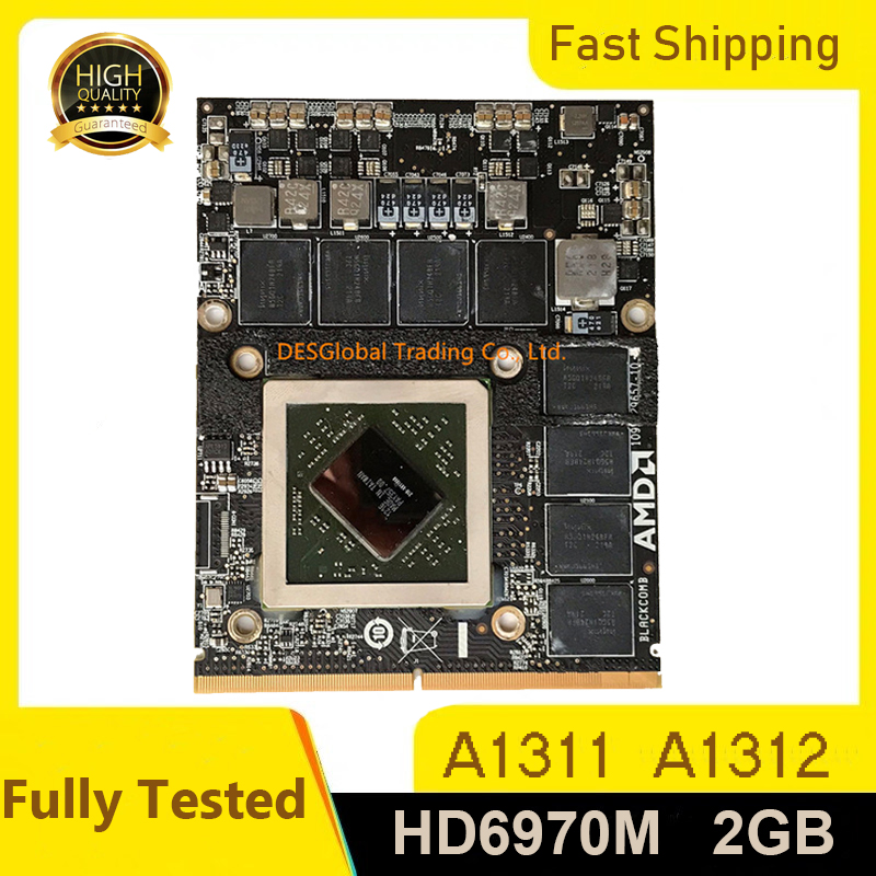 Original HD6970 HD6970M 2GB 216-0811000 VGA Video Graphics Card 109-C29647-00 For Apple IMac 27