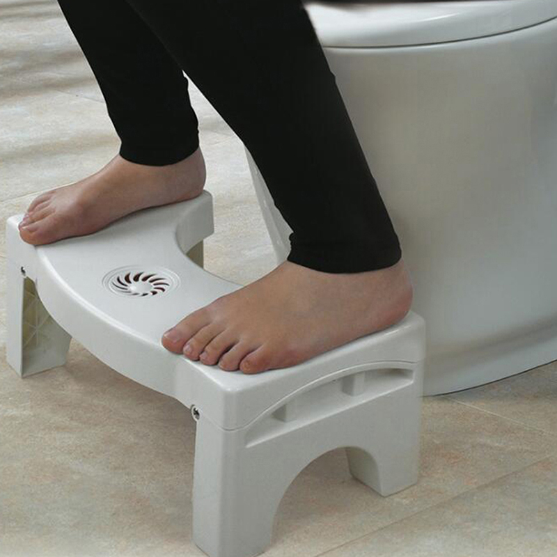 Foldable Plastic Footstool Squatting Stool Bathroom Anti Constipation For Kids