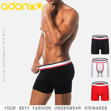 ORLVS Sexy Gay Boxers Men Underwear Male Panties Cotton Breathable Cueca Tanga Men Sleepwear Mesh Quick Dry Boxershorts OR121(China)