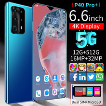 P40 Pro + 6,6 zoll Android 8GB RAM 256GB ROM Deca Core CPU 5000mAh Handy 2021 globale Version Smartphone 32MP Hinten Kameras