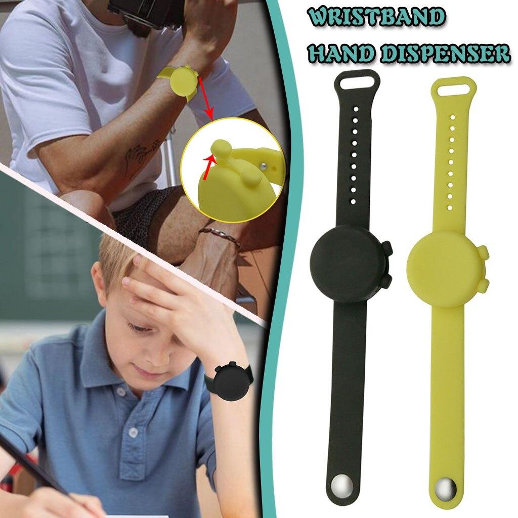 Nuovo Wristband Mano Dispenser Disinfettante Per Le Mani di Erogazione Dispenser di gel di Silice Indossabile Pompe Disinfecta Braccialetti Mano Cinturino Da Polso|Supporto per il polso|   - AliExpress
