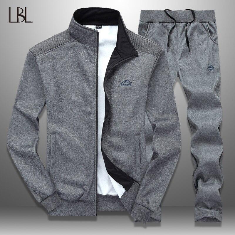 LBL Sportswear Tracksuit Men Spring Autumn Mens Track Suits 2020 Two PCS Sweat Suit Zipper Jacket+Sweatpants Male Brand Clothing
