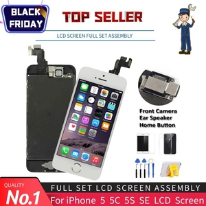 Image 1 - Affichage de qualité AAA pour iPhone 5 5S 5C SE LCD écran tactile assemblée numériseur remplacement ensemble complet Clone Module caméra + bouton daccueil
