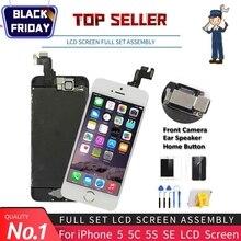 Klasy AAA wyświetlacz dla iPhone 5 5S 5C SE LCD ekran dotykowy zgromadzenia zamiennik digitizera pełny zestaw klon moduł kamery + przycisk Home