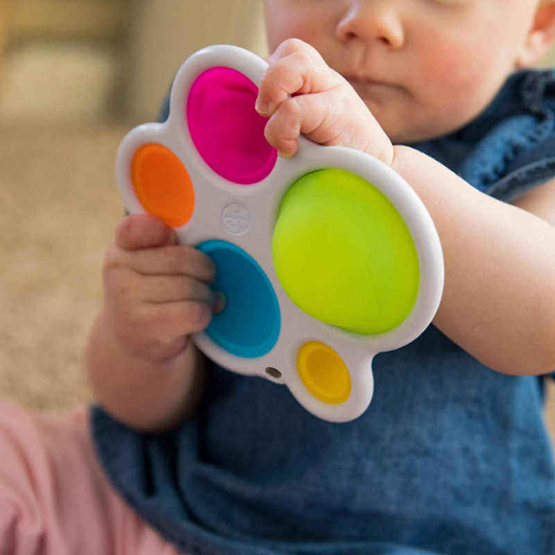 Bayi Papan Latihan Mainan Rattle Mainan Puzzle Warna-warni Intelijen Pengembangan Papan Awal Pendidikan Papan Mainan untuk Anak
