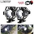 Фары для мотоцикла вспомогательная лампа U5 Светодиодный прожектор 12 В DRL для Honda VTX1300 CBR650F CB650F VF750 VFR750 VFR800 VTR1000F