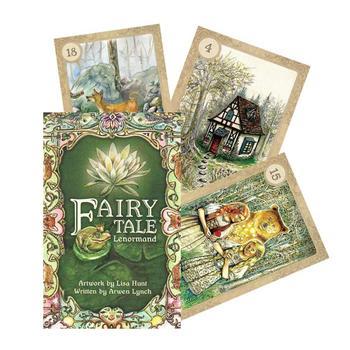 Cartas de Tarot de cuento de hadas de 38 Uds., juego de cartas de fiesta familiar, juego de Tarot inglés, conjunto de juegos de mesa, libro electrónico para niños