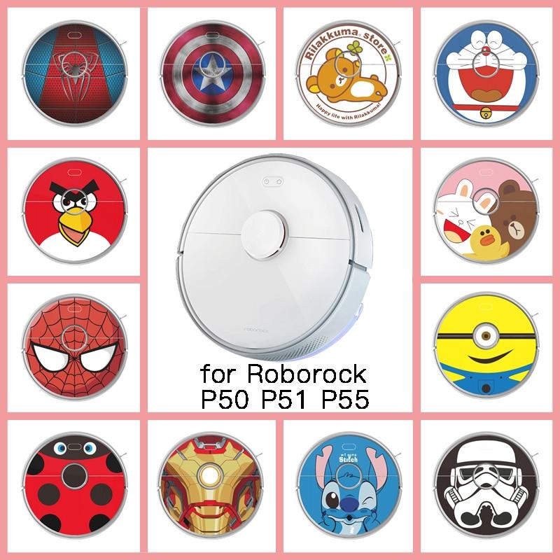 Provide Customized Custom Vinyl Sticker For Roborock P50 P51 P55 Robot Robotic Vacuum Cleaner Skin Spare Parts Accessories
