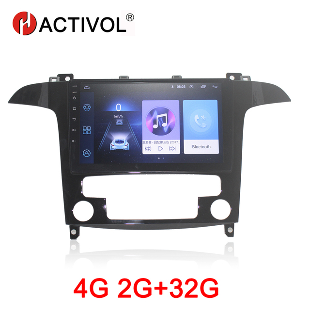 HACTIVOL Radio multimedia con gps para coche, Radio con reproductor dvd, Android 9,1, 2 GB + 32 GB, navegador navi, accesorio para coche, 4G, para Ford s max S Max 2007 2008