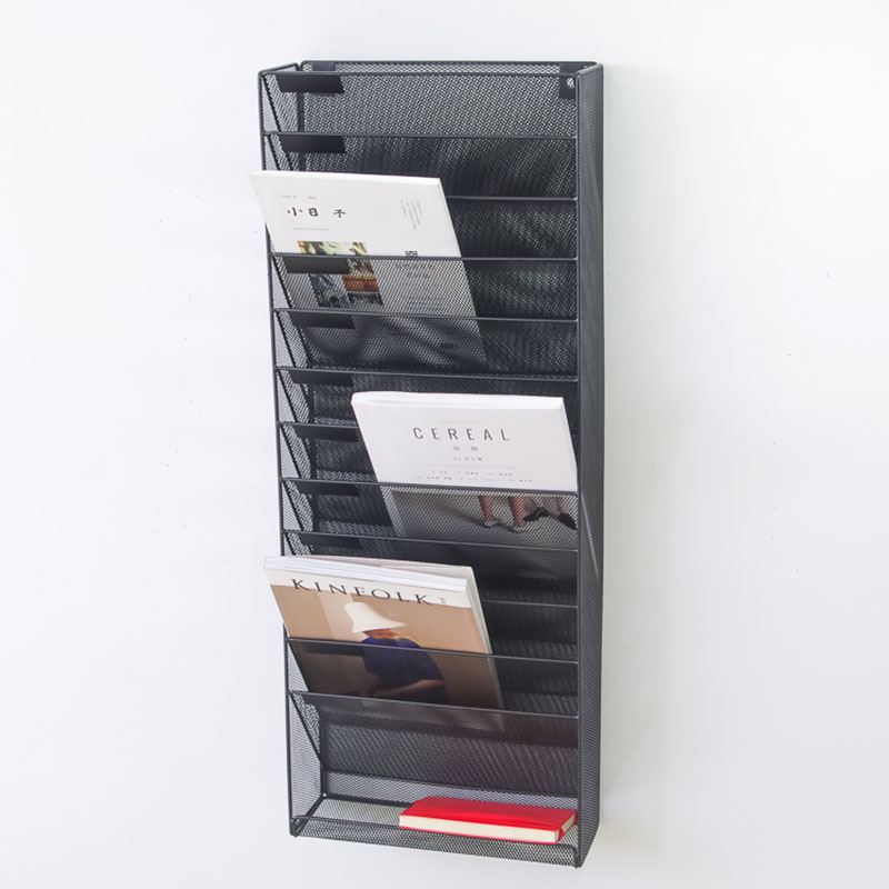 Classification Of Wall Hanging File Rack Newspaper Rack 12 Grid 5 Bar Magazine Bar Iron A4 Display Frame Hanging Wall