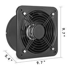Industrial Ventilation Extractor air Blower Fan Ventilation Fan Commercial Metal Axial Exhaust 250MM/10 Inch Air Puller Fan