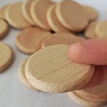 10 pçs disco redondo unfinished madeira círculo peças de madeira recortes ornamentos para artesanato suprimentos decoração