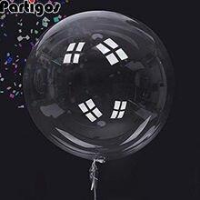 100 adet Helyum Bobo Balonlar 10/18/24/36 Inç Şeffaf PVC Balon Doğum Günü Partisi Dekorasyon Hava balonlar Düğün Dekor Favor