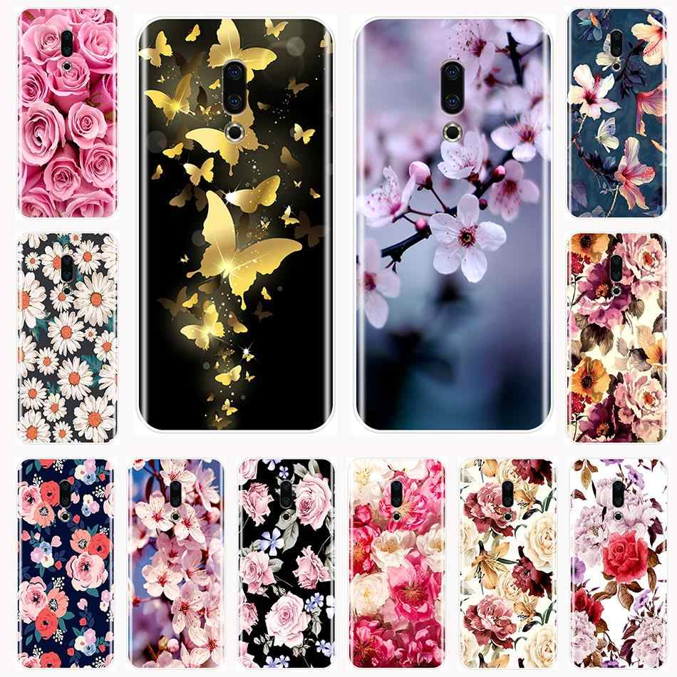 Back Cover For Meizu 16th 16x 15 Lite 16 Plus Soft Silicone Beautiful Flowers Phone Case For Meizu U10 U20 Pro 6 7 Plus