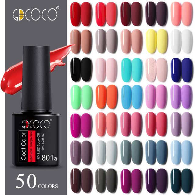 GDCOCO Nail Gel Varnish 8ml High Quality Nail Gel Polish Cheaper Price Plastic Bottle Bright Color Glitter Varnish Nail Gel 1