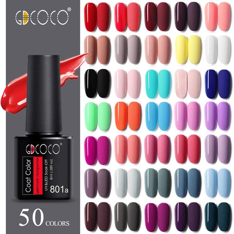 GDCOCO Nail Gel Varnish 8ml High Quality Nail Gel Polish Cheaper Price Plastic Bottle Bright Color Glitter Varnish Nail Gel