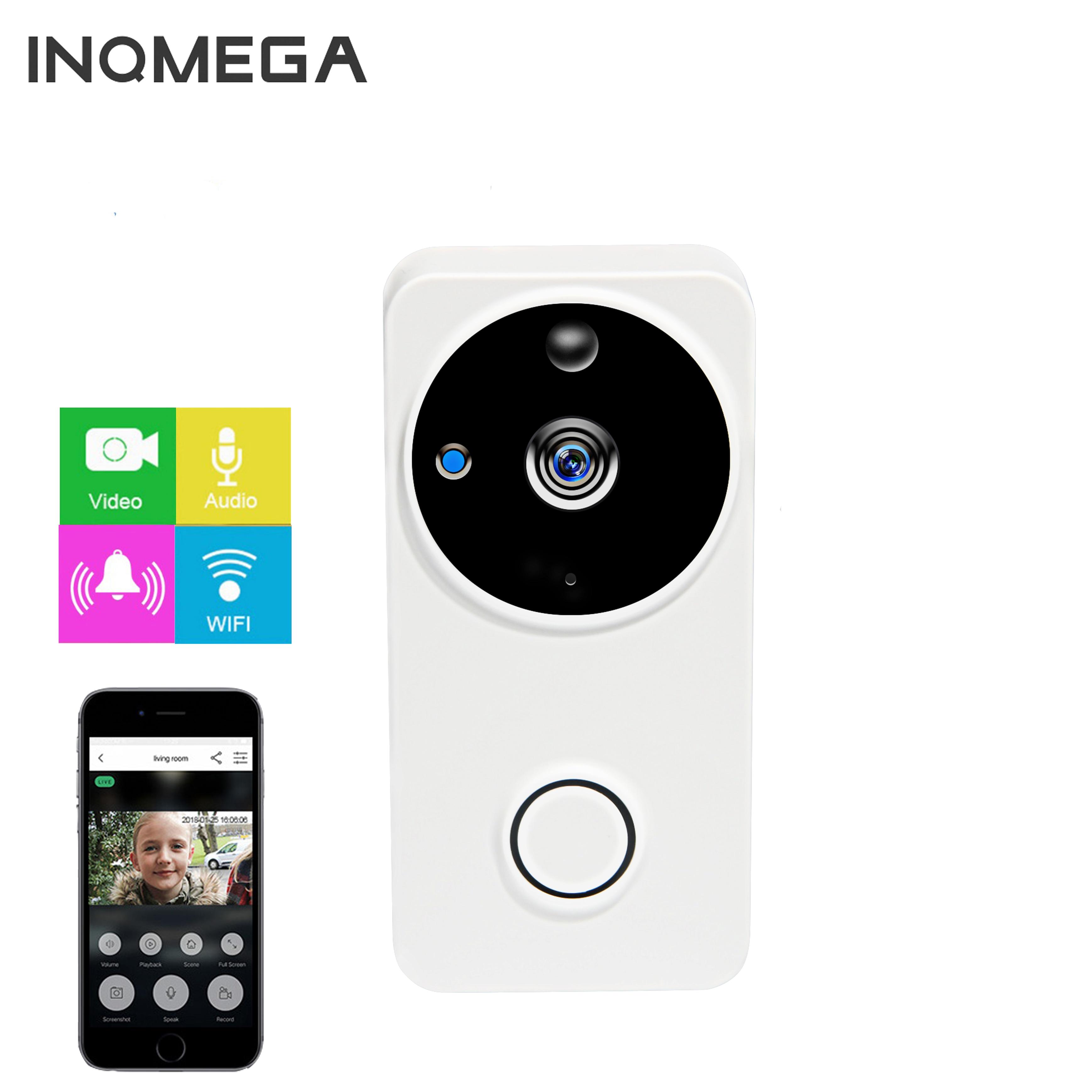 INQMEGA Video Doorbell Smart Wireless WiFi Security Door Bell Visual Recording Home Monitor Night Vision Intercom Door Phone