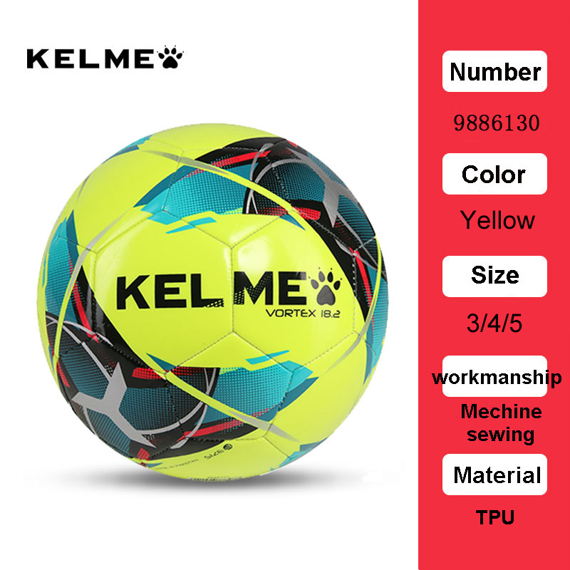 KELME Professional Football Soccer Ball TPU Size 3 Size 4 Size 5 Red Green Goal Team Match Training Balls 9886130 15
