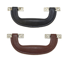 Retro Modern Box Plastic Holder,Suitcase Holder Arch Furniture Hardware,Tool Handle,Brown Black,148*52mm,1PC