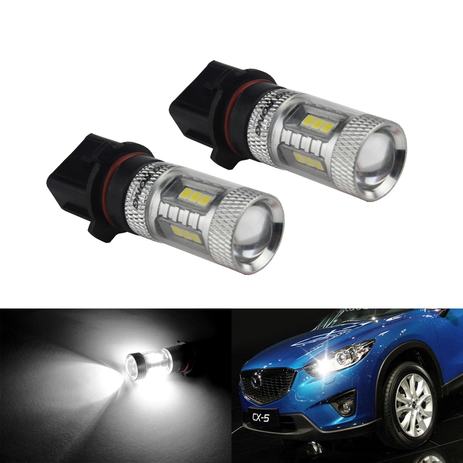 ANGRONG 2x P13W Bulb 15W LED Fog Daytime Running Light For Skoda Yeti 5L 508 For Audi A4 B8(CA219x2)