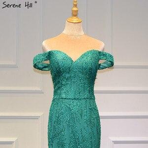 Image 5 - Zielony Sweetheart Sexy suknie ślubne w stylu vintage 2020 cekinami syrenka bez rękawów suknie ślubne prawdziwe zdjęcie HM66614