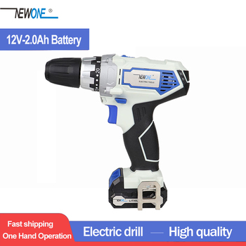 NEWONE 12V power tools electric Drill Electric Cordless Drill Screwdriver Mini Drill electric drilling with lithium battery