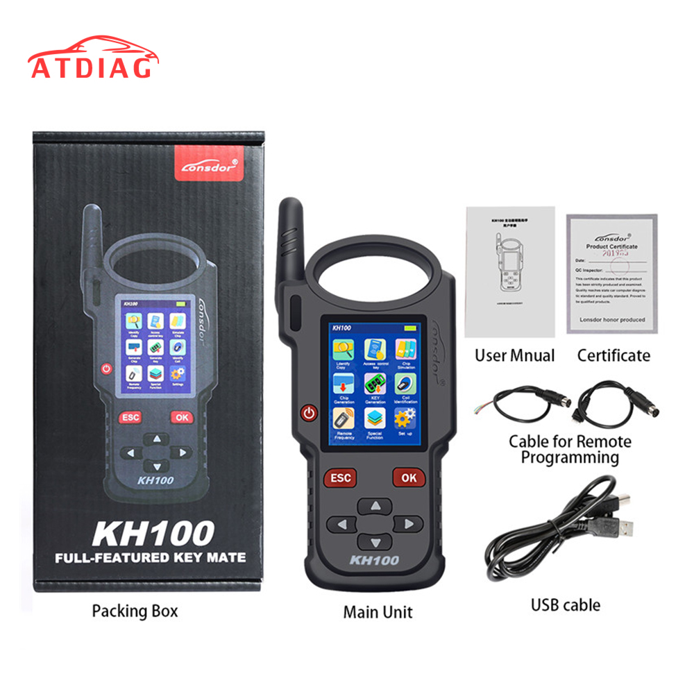 Original Lonsdor KH100 Remote Maker Key Programmer Generate Chip Simulate Chip Identify Copy Remote Frequency with