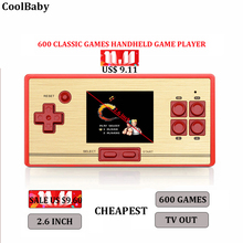 Video Game Console 8 Bit Retro Mini Pocket Handheld Game Player Built-in 600 Classic Games Best Gift for Child Nostalgic Player