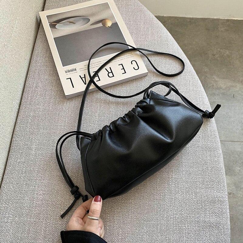 Hobo Purse Bags For Women 2020 New Leather Crossbody Shoulder Bag Soft Leather Handbag Retro  Cloud Pouch Bag Womans Bolsa