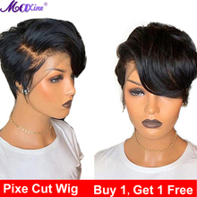 Maxine Pixie Cut Wig Short Bob Lace Front Human Hair Wig For Black Women Pre Plucked With Baby Hair Gluless Remy Wig 13x4