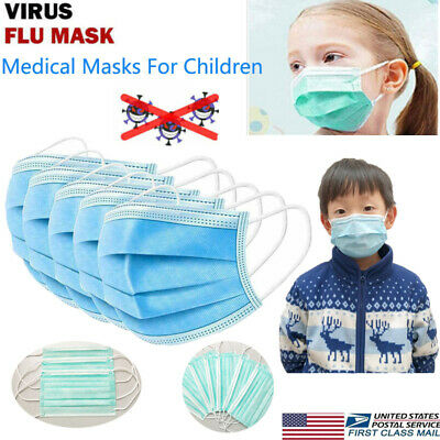 50Pcs Children Kids Medical Protective Three-Layers Anti Dust Face Shield Hot