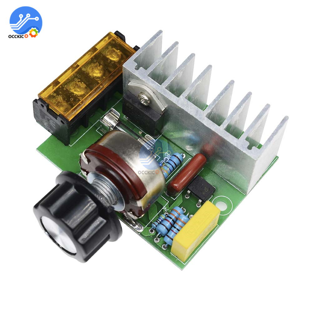 4000W SCR Electric Voltage Regulator Motor Speed Controller 110V 220V 0-220V With Temperature Insurance Protection