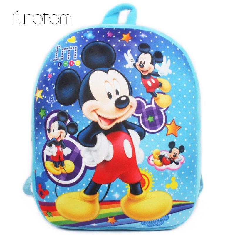 3D karikatür çocuk mini okul çantası anaokulu kız erkek çocuk peluş sırt çantası çocuk okul çantası s kız erkek sırt çantaları