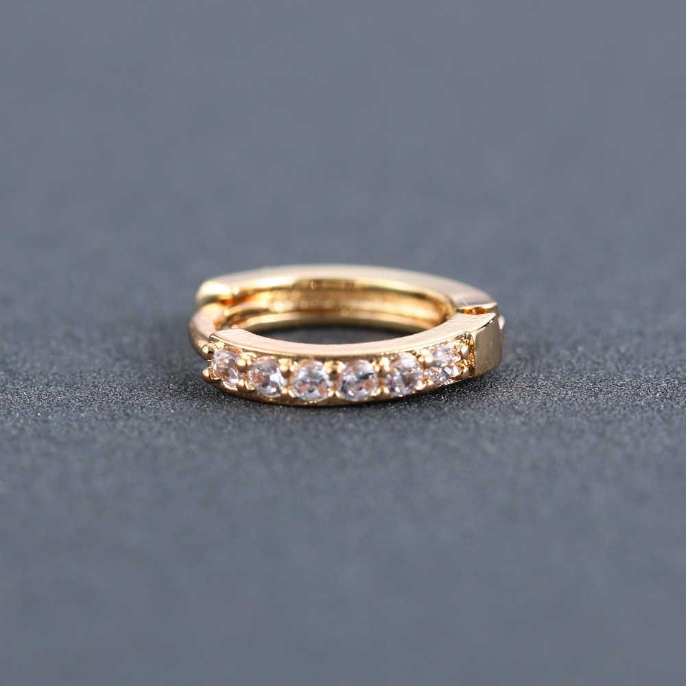 2pcs orean עגילי Zirconia קריסטל CZ Stud עגיל קשת זהב עגילים לנשים KCharm תכשיטי מתנה סחוס אוזן הרבעה