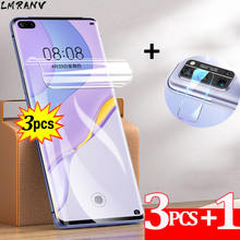 3PCS Honor 30 Pro Plus Hydrogel Film+Camera Lens Film For Huawei Honor30 ProPlus Screen Protector Not Glass Anti-scratch 100D Curved Full Cover Protective Film Huavei P30 Lite P 30 Pro P40 Honor 30 30S Soft Film