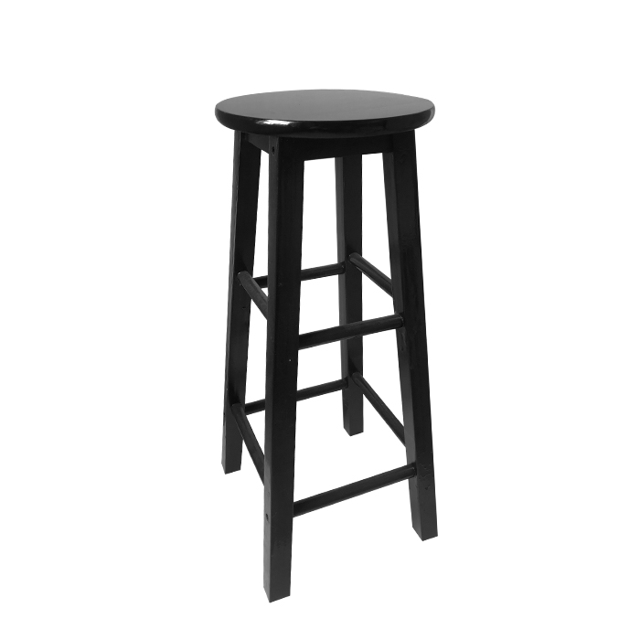 Solid Wood Bar Chair High Stool Nordic Black And White Pink Cash Register Tea Shop Photography Decoration Retro Bar Chair