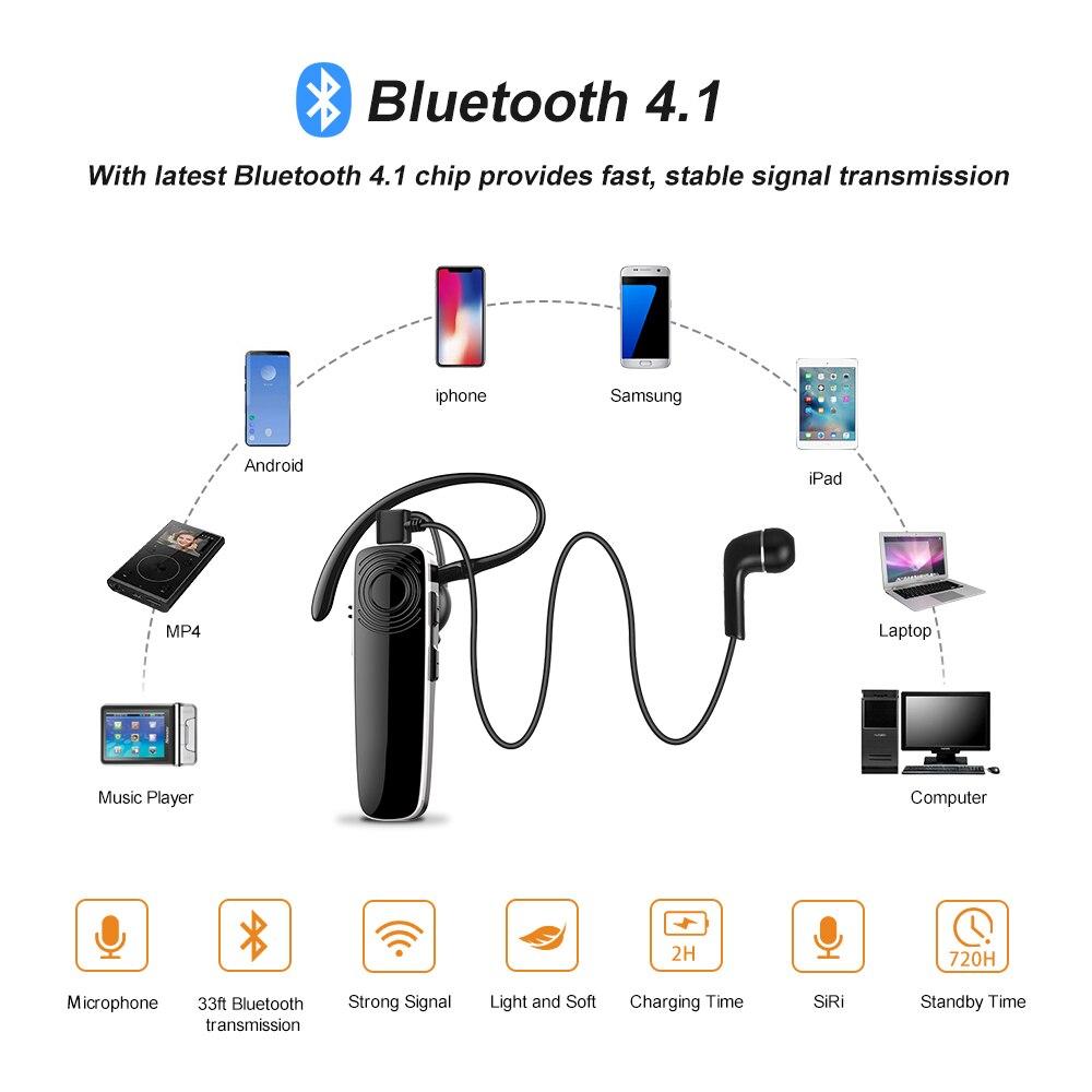 New Bee Bluetooth Earpiece Wireless Headset Mini hands-free Earphone Headset Stereo Headphone With CVC6.0 Mic For iPhone xiaomi