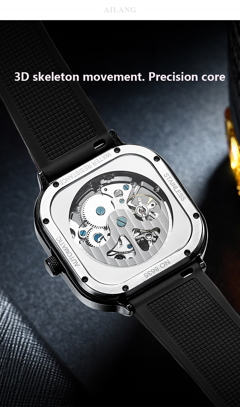 Hbebd043ad46841548f0ed6e344e7a2b72 2020 new men's automatic watch brand luxury silicone strap hollow Swiss square ten watches