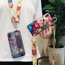 Neck Wrist Strap Lanyard Case For iphone