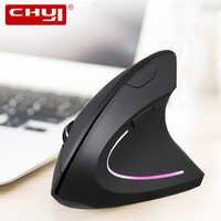 CHYI souris verticale ergonomique sans fil droite/gauche souris de jeu d'ordinateur 5D USB souris optique Gamer Mause pour ordinateur portable jeu de PC