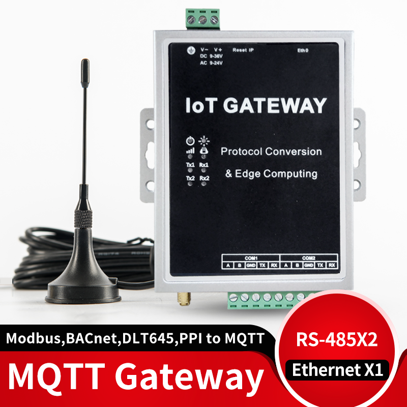 MQTT Data Acquisition Gateway 4G Module Supports Modbus, BACnet, DLT645, Mbus, PPI Protocol