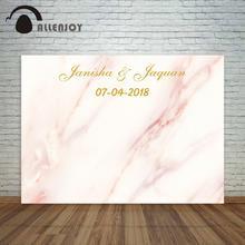 Allenjoy мраморный фон с пастельным розовым рисунком свадебный фон на заказ для фотосессии фотостудия средства
