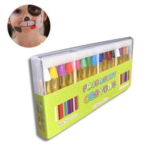 Набор цветных карандашей для лица, канцелярские принадлежности для тела, комбинированная структура, карандаши 16 цветов, фестиваль для детей, подарки, вечерние, макияж, косплей, шоу