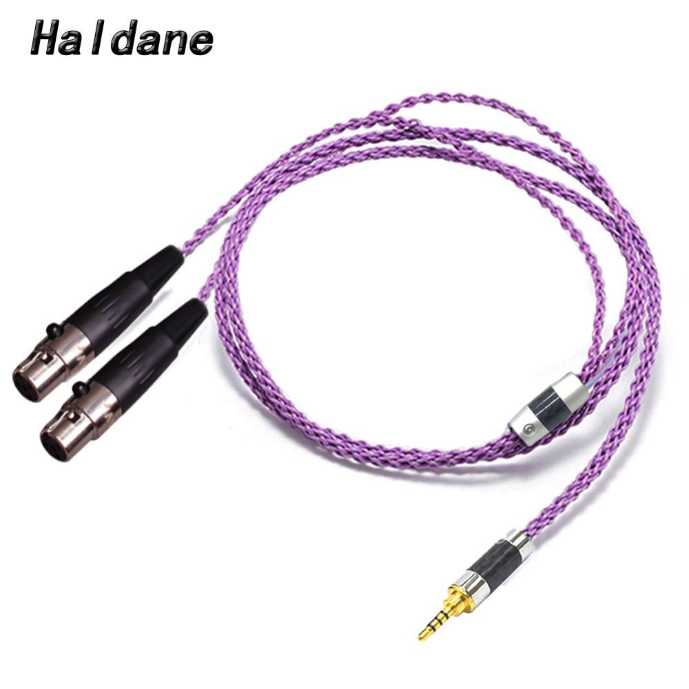 Haldane HIFI 2.5/3.5/4.4mm/XLR Balanced Earphone Headphone Upgrade Cable Silver Plated for Audeze LCD-3 LCD3 LCD-2 LCD2 LCD-4