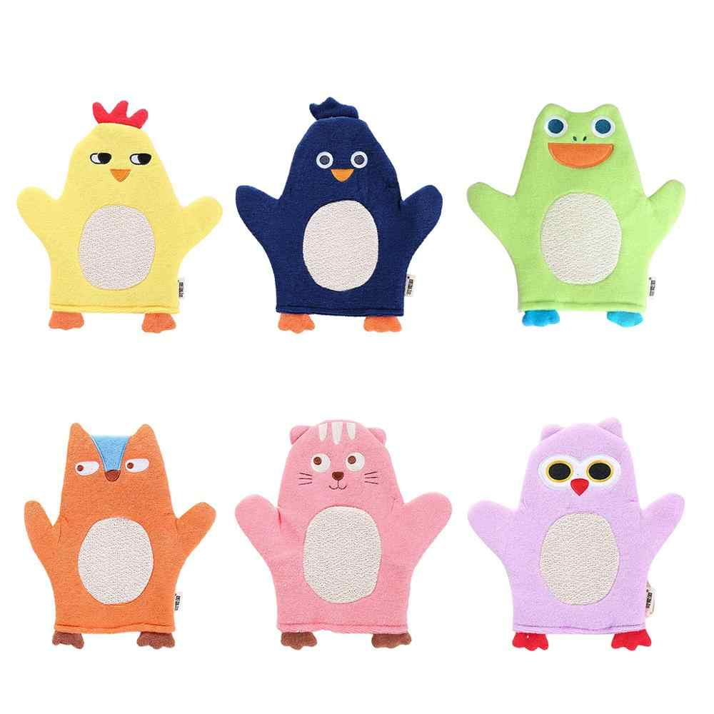 Children Baby Bath Glove Purifier Skid Resistance Body Massage Exfoliating Sponge Spa Foam Cartoon bath rubbing bath towel