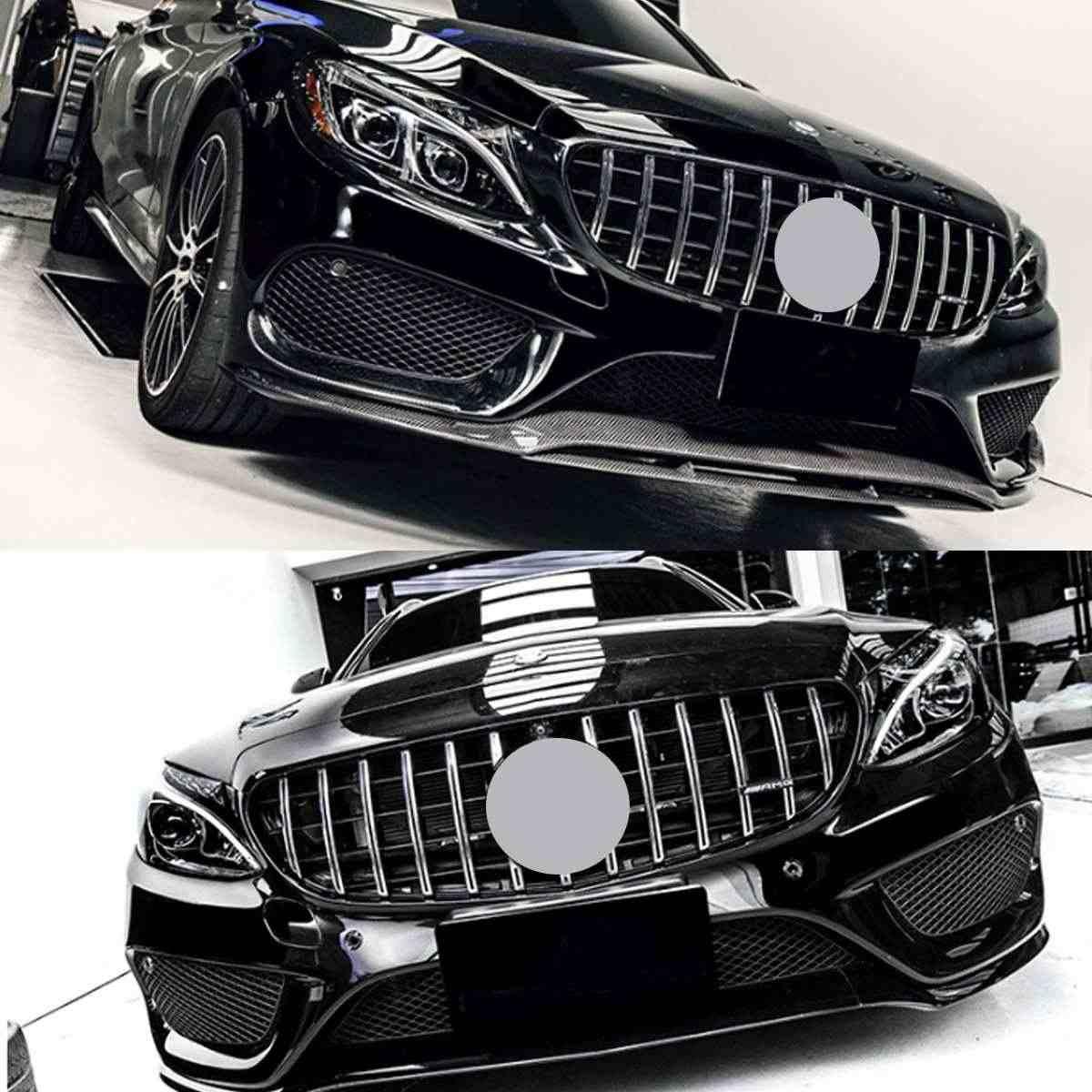 คุณภาพสูงรถกระจังหน้ารถกันชนด้านหน้าตาข่ายสำหรับ Mercedes For Benz W205 สำหรับ AMG ดู C200 C250 C300 c350 2015-2018