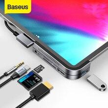 Baseus KONCENTRATOR USB C, USB 3.0, HDMI, stacja dokująca, do iPada Pro, MacBook Pro, 6 portów USB